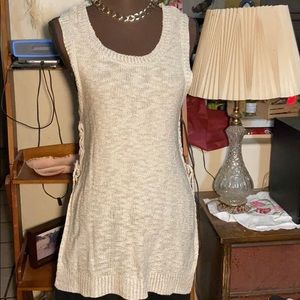 Rue 21  high low, lace-up sides sweater SZ MED
